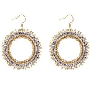 Beaded Circle Earrings